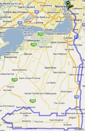 Parcours du brevet de 200 km 2010